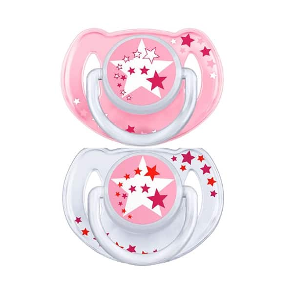 Avent Night Time Pacifiers 0-6m Σιλικόνης 2τμχ