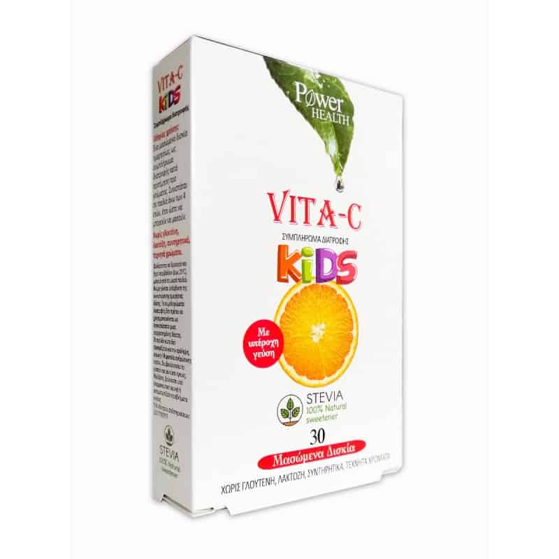 Power Health Vita – C Kids Stevia 30 μασώμενα δισκία