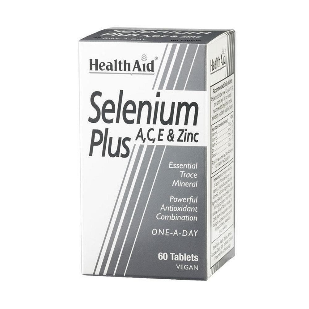HealthAid Selenium Plus A, C, E & Zinc 60 ταμπλέτες