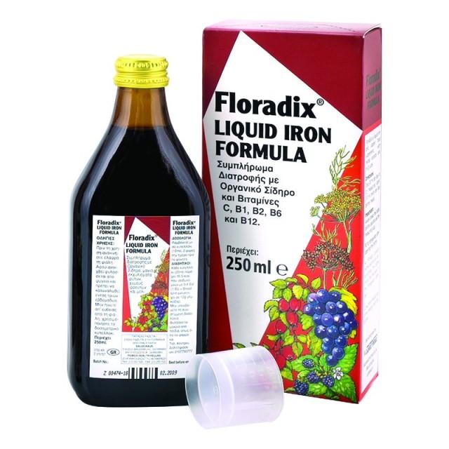 Power Health Floradix Syrop σίδηρος και βιταμίνες 250ml
