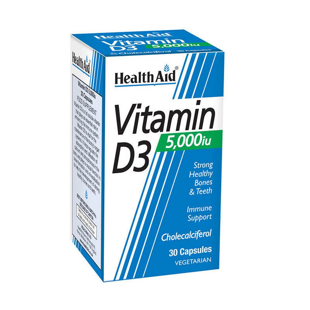 HealthAid Vitamin D3 5000i.u. 30 κάψουλες