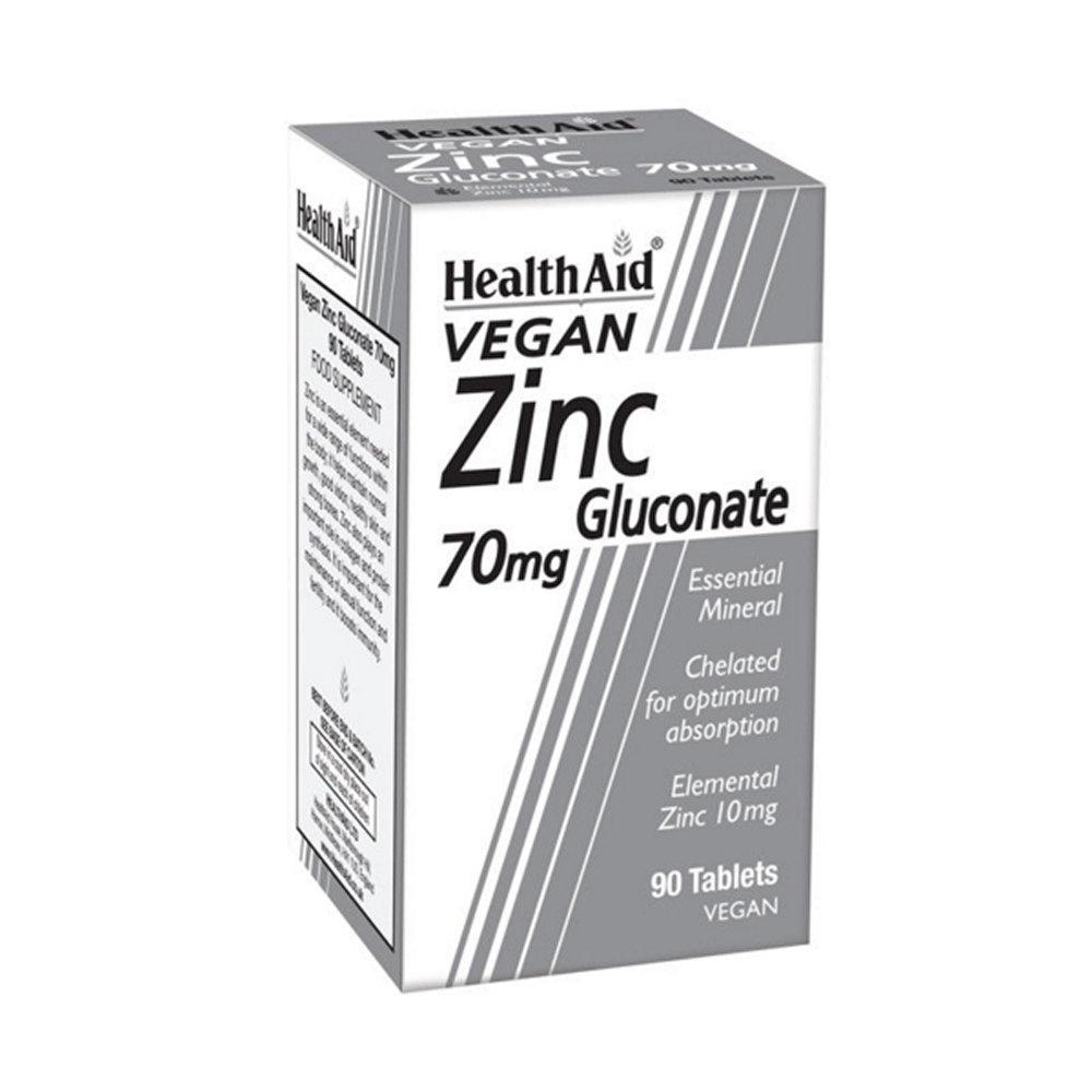 HealthAid Zinc Gluconate 70mg 90 ταμπλέτες