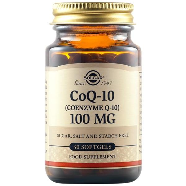 Solgar Coenzyme Q10 100mg 30 μαλακές κάψουλες