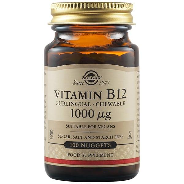 Solgar Vitamin B-12, 1000mg 100 δισκία υπογλώσσια