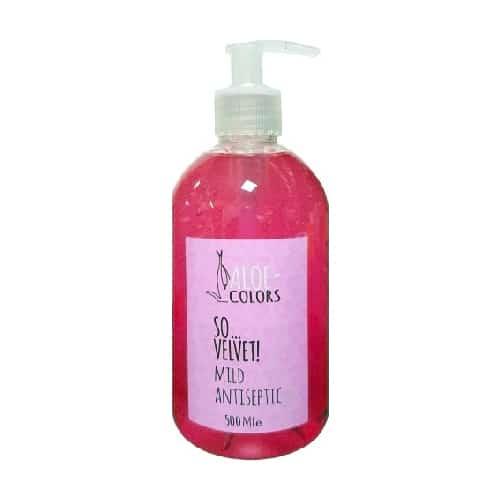 Aloe +Colors Antiseptic gel So Velvet 500ml αντησηπτικό χεριών αλόης