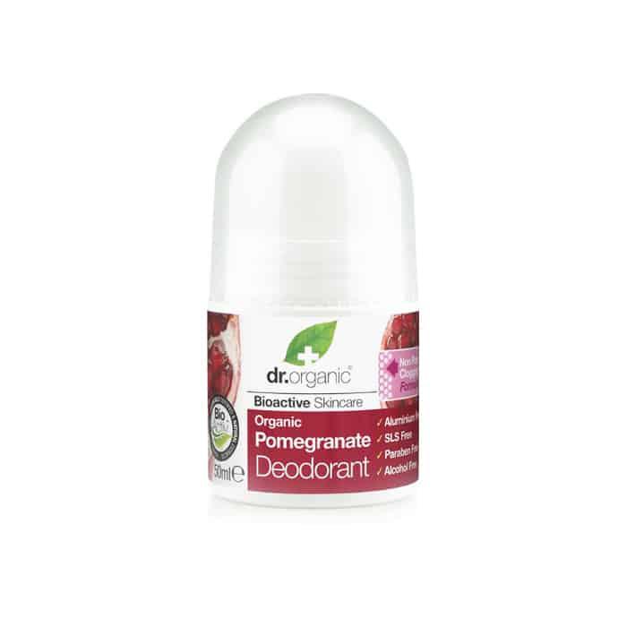 Dr. Organic Pomegranate Deodorant σε μορφή roll-on 50ml ροδι deodorant roll on αποσμητικο