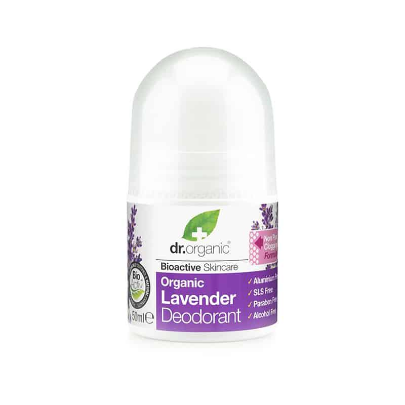 Dr. Organic Lavender Deodorant σε μορφή roll-on 50ml λεβαντα levender deodorant roll on αποσμητικο