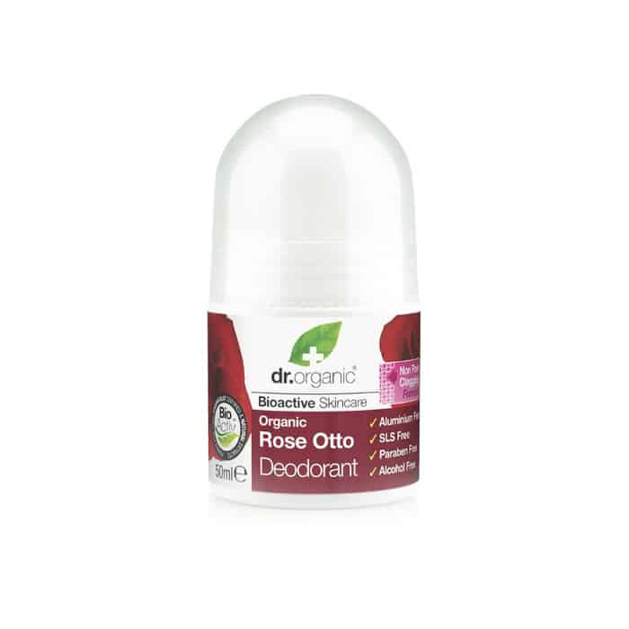 Dr. Organic Rose Otto Deodorant σε μορφή roll-on 50ml τριανταφυλλο rose otto deodorant roll on αποσμητικο