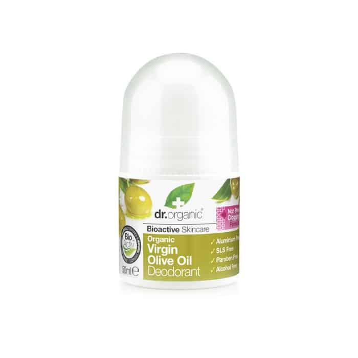 Dr. Organic Virgin Olive Oil Deodorant σε μορφή roll-on 50ml ελαιολαδο deodorant roll on αποσμητικο