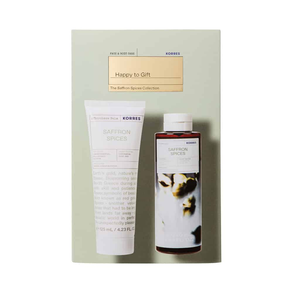 Korres Promo Happy To Gift The Saffron Spices Collection Saffron Spices Body Milk 125ml & Korres Saffron Spices Showergel 250ml