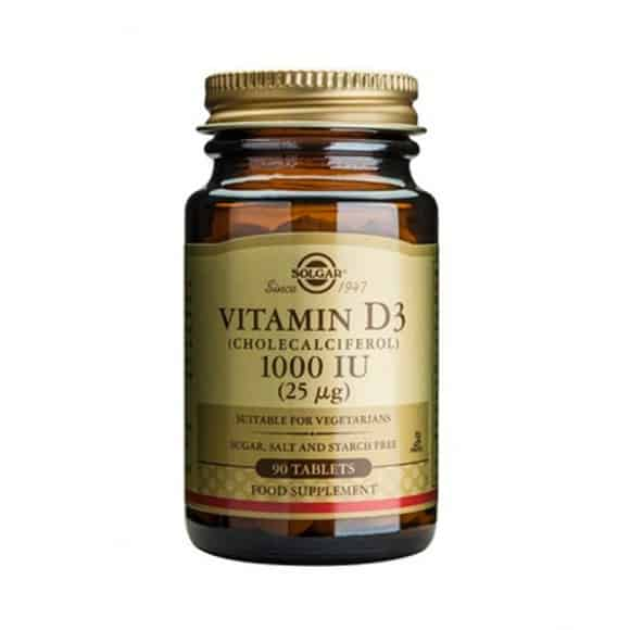 Solgar Vitamin D3 1000IU 25μg 90 ταμπλέτες