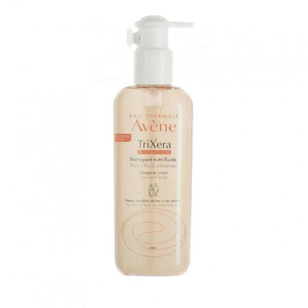 Avene Trixera Nutrition Nettoyant Nutri-Fluide Cleanser, Λεπτόρευστο Καθαριστικό Πρόσωπο Σώμα Ξηρό Δέρμα 500ml