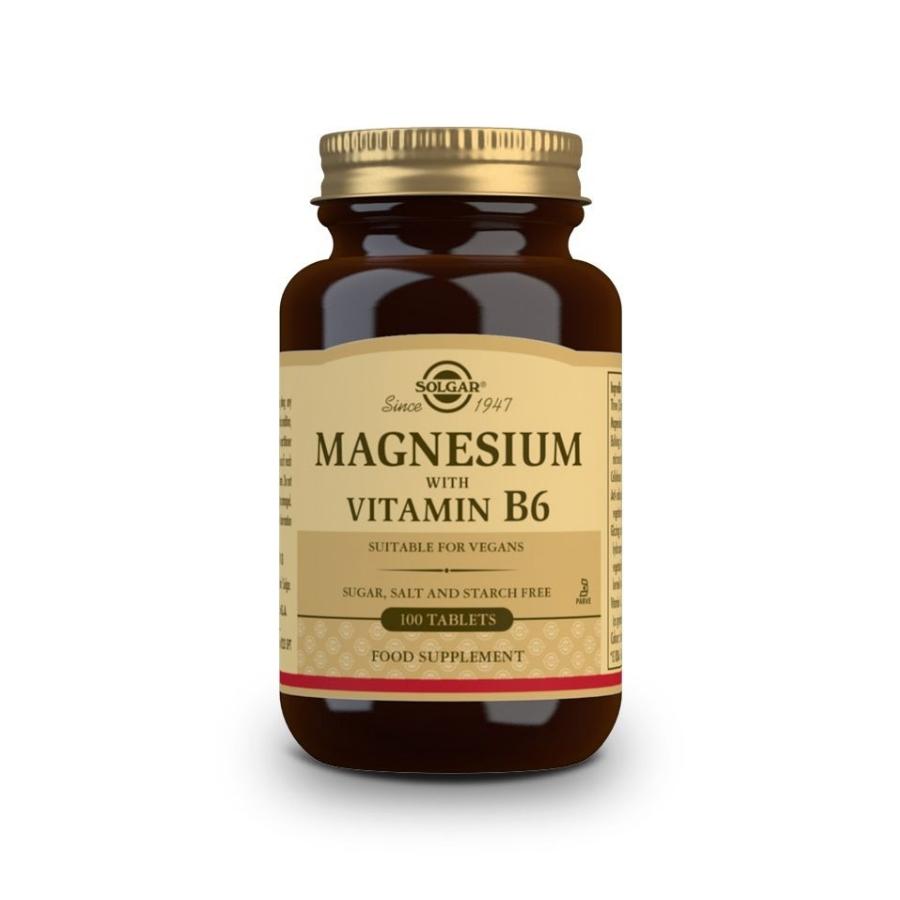 SOLGAR Magnesium Vitamin B6 100tabs (1)