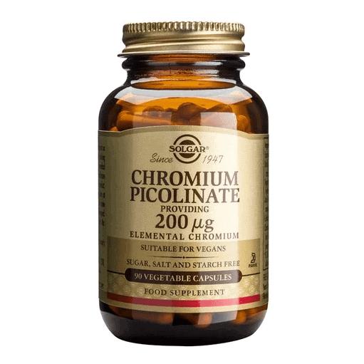 Solgar Chromium Picolinate 200μg 90 ταμπλέτες
