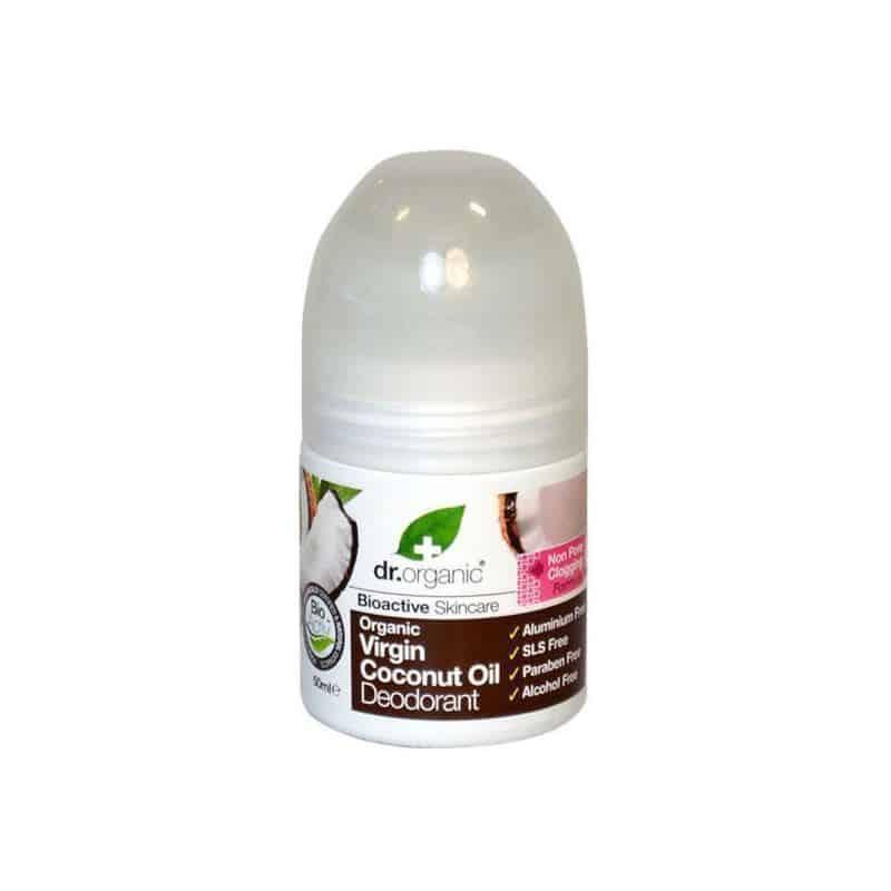 Dr. Organic Virgin Coconut Oil Deodorant σε μορφή roll-on 50ml καρυδα deodorant roll on αποσμητικο