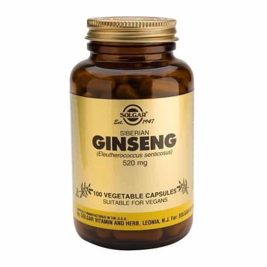 Solgar Siberian Ginseng 520mg 100 Κάψουλες