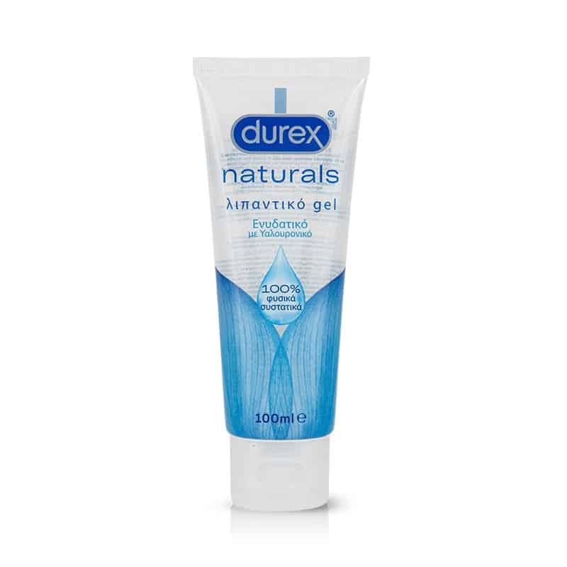 Durex Naturals, Ενυδατικό Λιπαντικό Gel με Υαλουρονικό 100ml