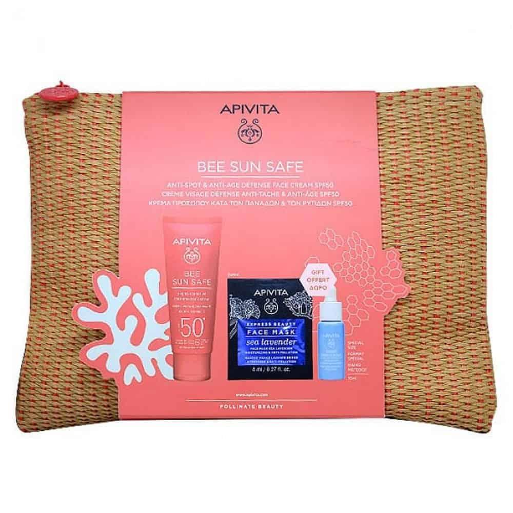 Apivita Bee Sun Save Hydra Sensitive Soothing Face Cream spf50 Set