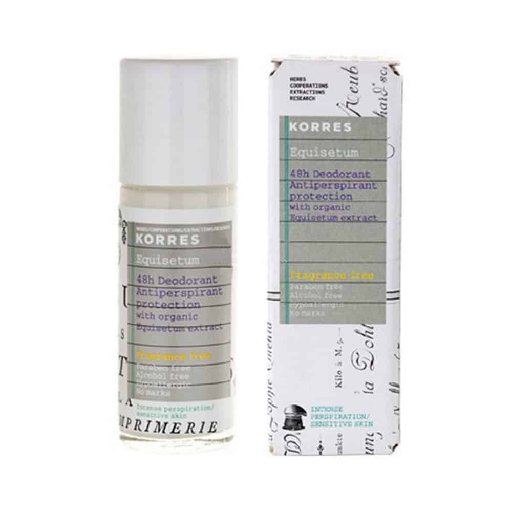 Korres 48h Deodorant Antipersprirant Protection With Organic Without parfum 30ml