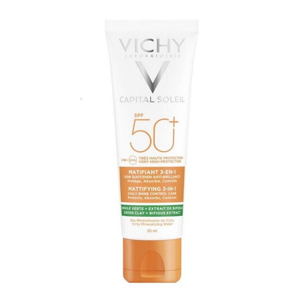 Vichy Capital Soleil Matifiat sunscreen face 3 en 1 50ml