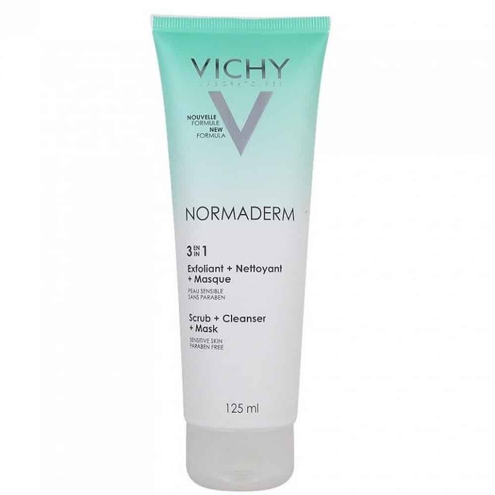 Vichy Normaderm 3 in 1 cleanser scrub and mask, 125ml
