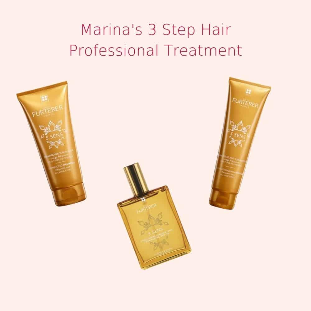 marinas 3 step hair treatment λαμπερά ενυδατωμενα μαλλια