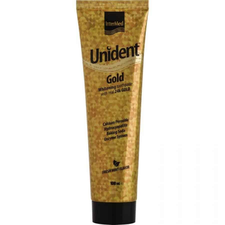 Intermed Unident Gold Toothpaste Λευκαντική Οδοντόκρεμα 100ml