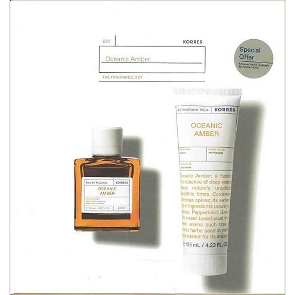 Korres Oceanic Amber Eau De Toilette 50ml After Shave 125ml