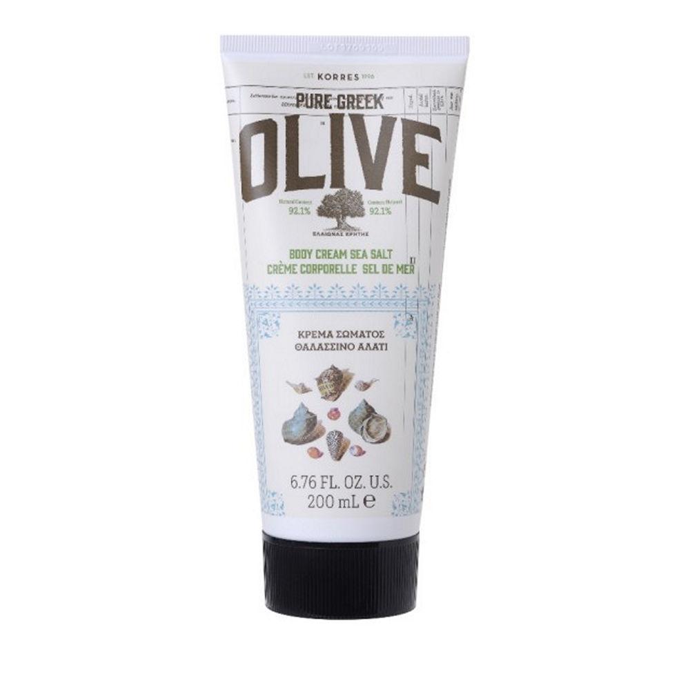 Korres Pure Greek Olive Body Cream Sea Salt 200ml