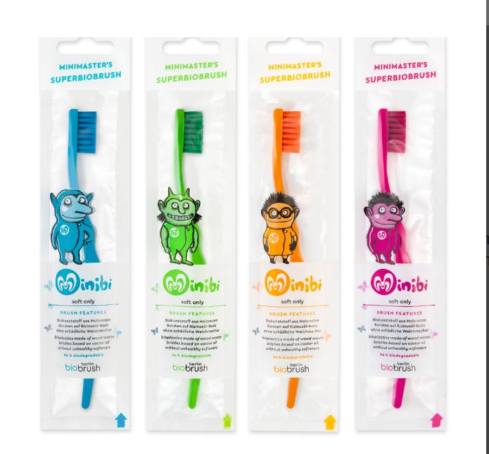 Superbiobrush Biobrush(1) βιοδιασπώμενη παιδικη οδοντοβουρτσα
