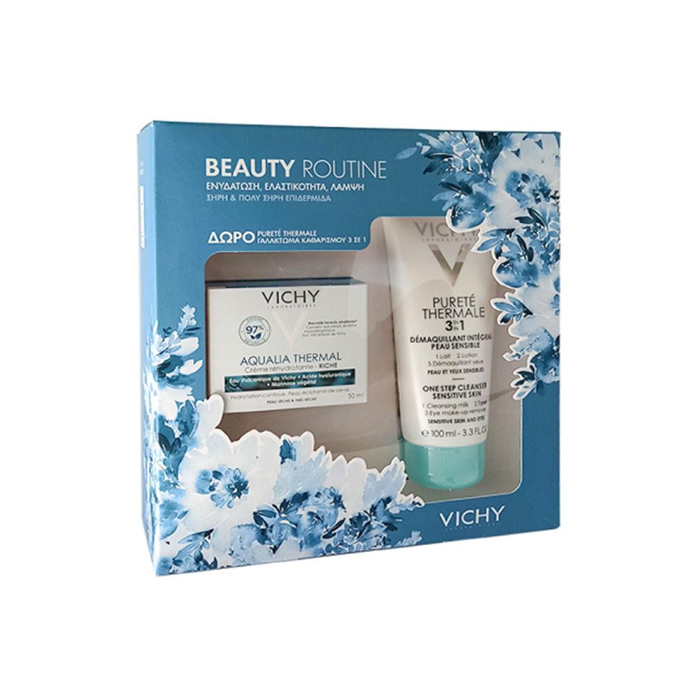 Vichy Beauty Routine Set Aqualia Dry Cream