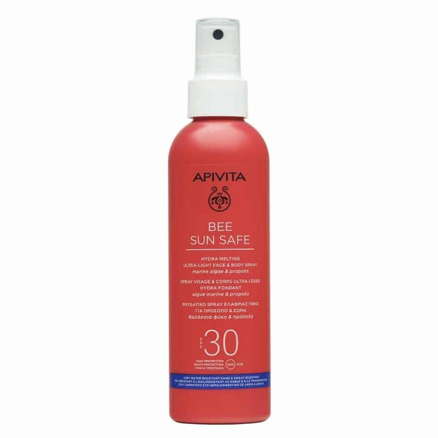 apivita bee sun safe Hydra Melting Ultra Light Face & Body Spray spf 30