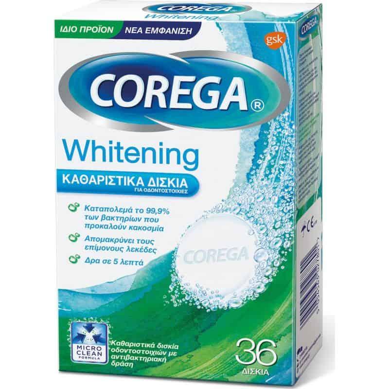 corega whitening 36 tabs