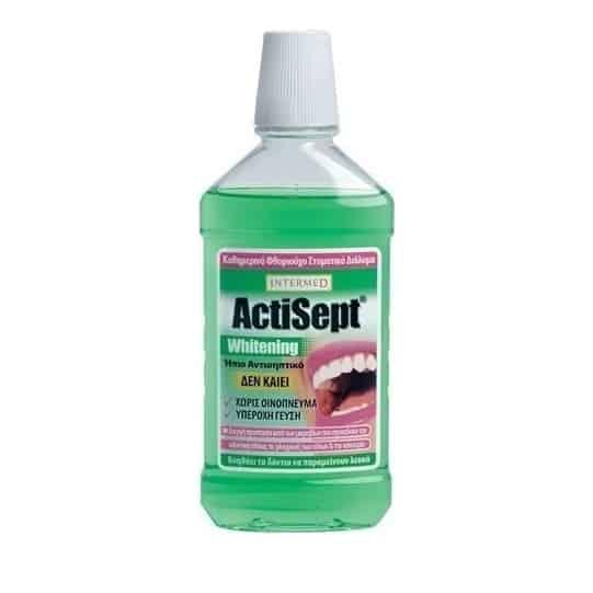 intermed actisept whitening mouthwash 500ml
