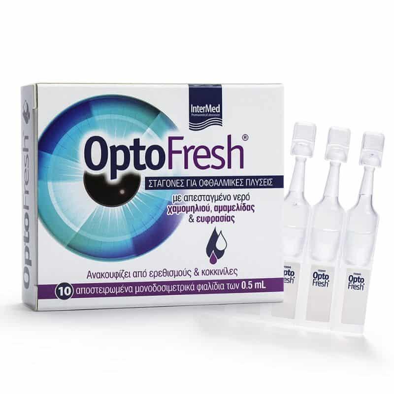 INTERMED OPTOFRESH Σταγόνες για Οφθαλμικές Πλύσεις 10x0.5ml