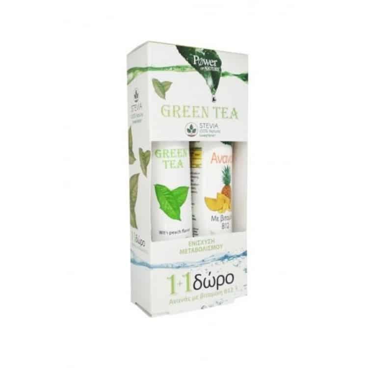 power health green tea stevia ananas b12