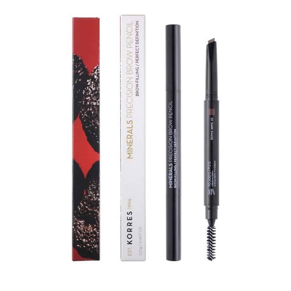 Korres Minerals Precision Brow Pencil 01 Dark Shade 0,2gr