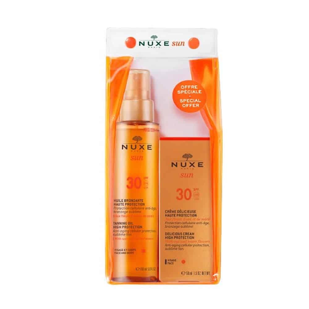 Nuxe Sun Promo Face Cream Body Oil SPF 30
