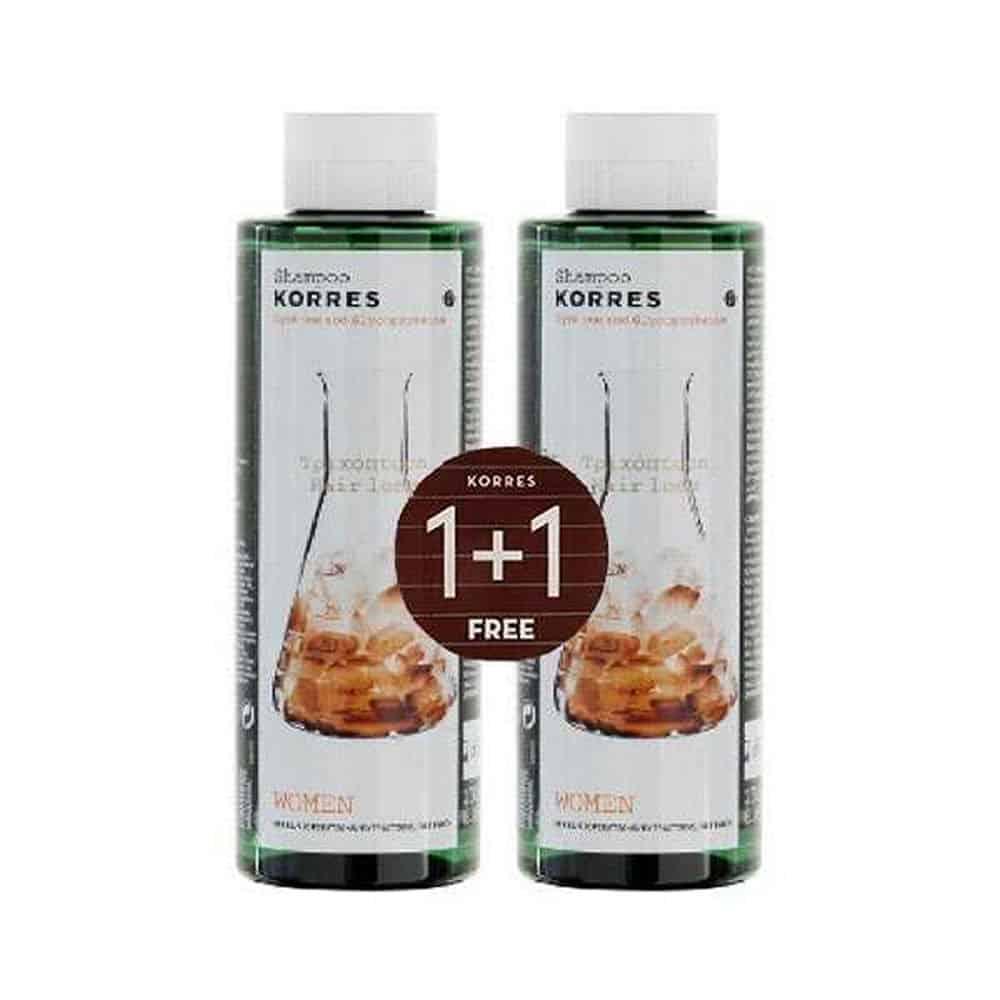 Korres Shampoo Cystine And Glycoproteins 2x250ml