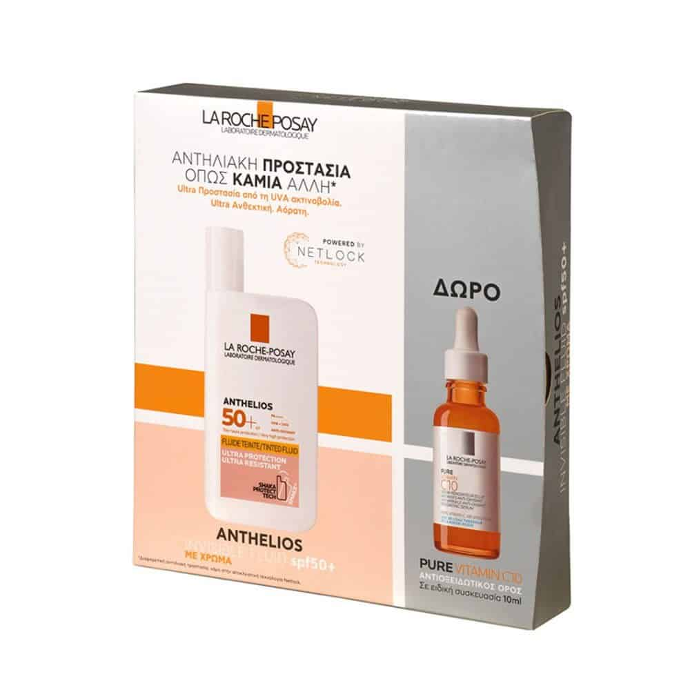 La Roche Posay Set Anthelios Invisible Tinted Fluid SPF50+ 50ml Gift Pure Vitamin C10 Serum 10ml