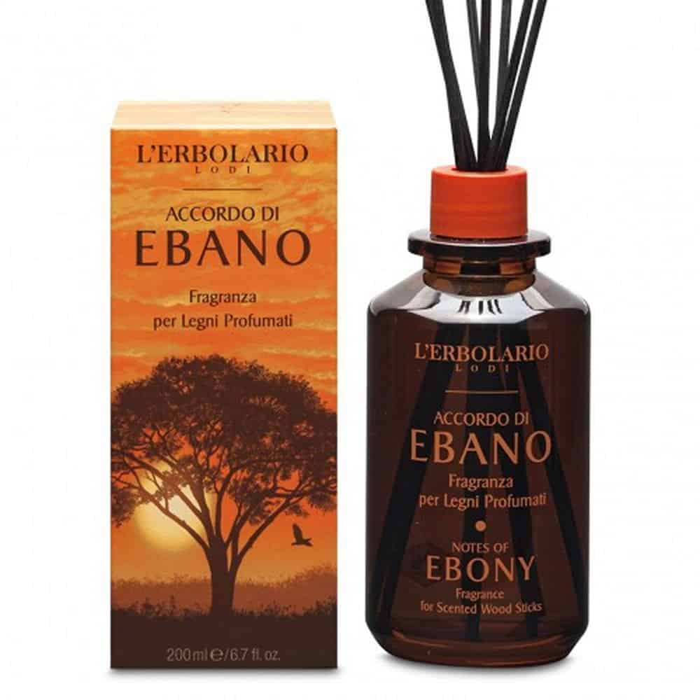 L'erbolario Fragrance For Scented Wood Sticks Accordo Di Ebano 200ml