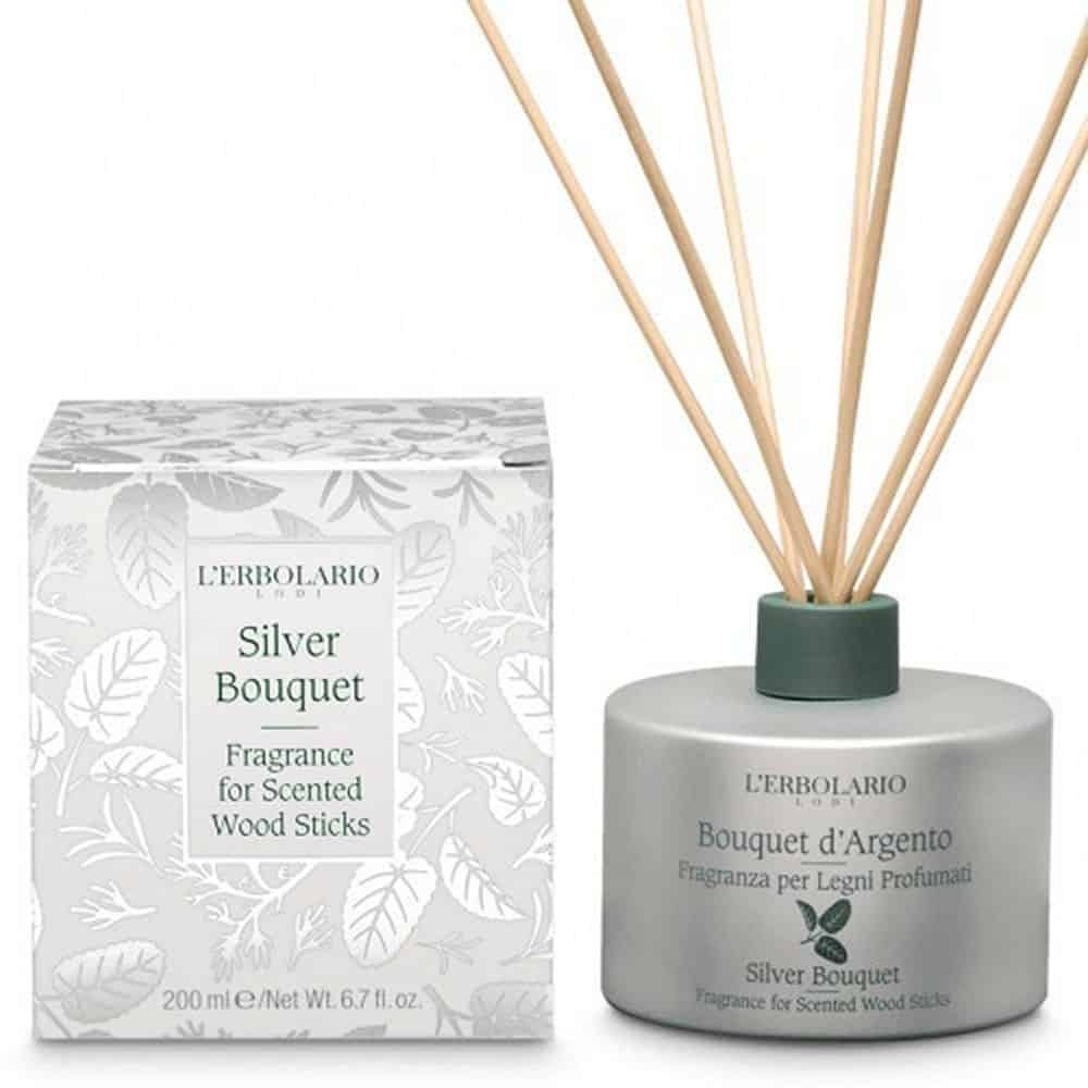 L'erbolario Fragrance For Scented Wood Sticks Bouquet D Argento 200ml