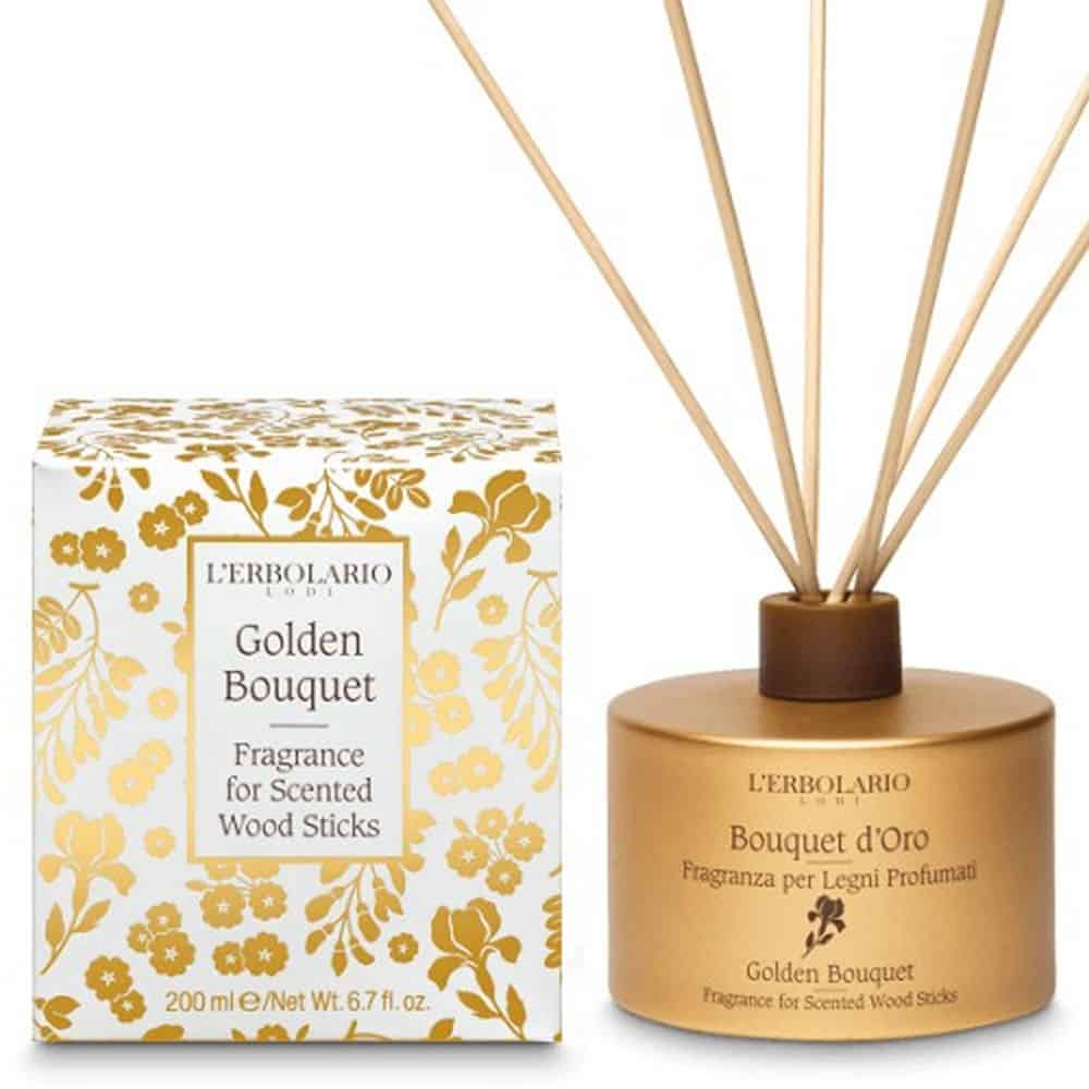 L'erbolario Fragrance For Scented Wood Sticks Bouquet D'Oro 200ml