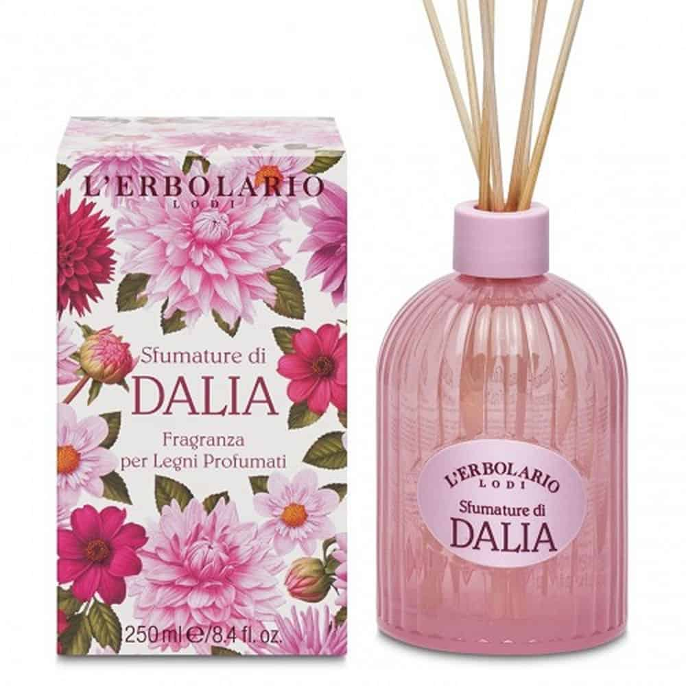 L'erbolario Fragrance For Scented Wood Sticks Shades Of Dahlia 250ml