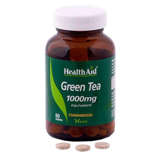 health aid green tea 1000mg tb