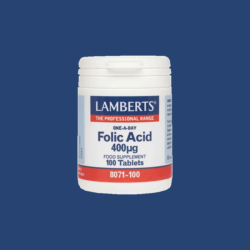 lamberts Folic-Acid-400μg
