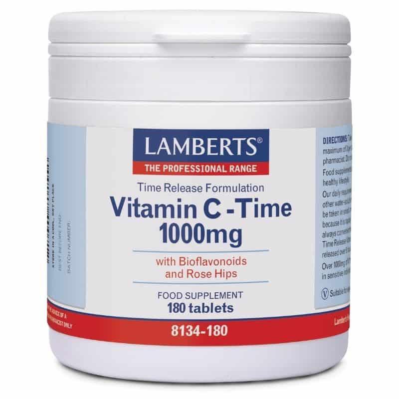 LAMBERTS Vitamin C Time Release 1000mg 180 Tαμπλέτες