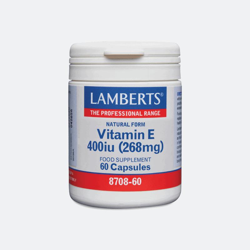 lamberts vitamin e 400iu 60καψ