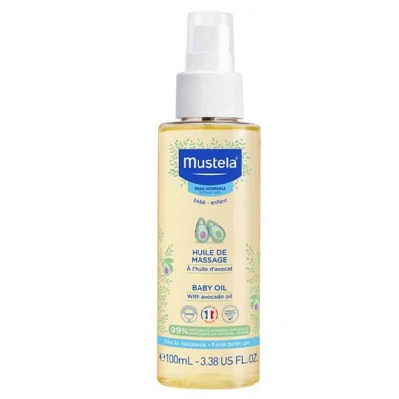 mustela huile de massage baby oil 100ml