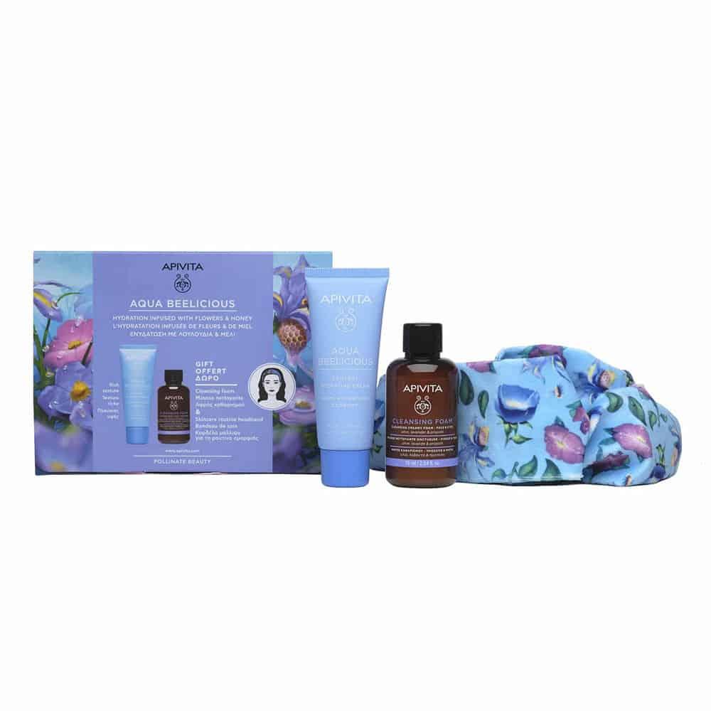 Apivita Promo Aqua Beelicious Comfort Foam Box With Headband